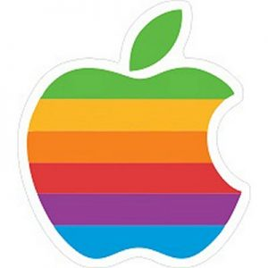 логотип яблоко радуга