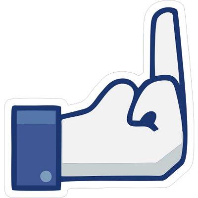палец фейсбук