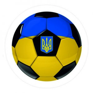 украинский флаг - футбол