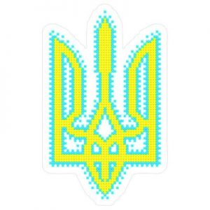 Украинский тризуб с вышивкой