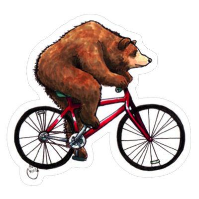 Медведь на велосипеде