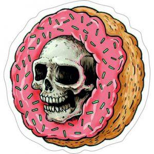 пончик череп