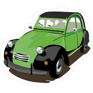 зеленый ретрокар