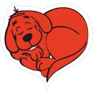 красный сердечный пес