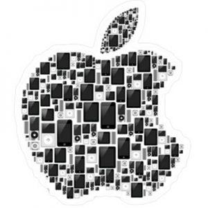 графическое яблоко