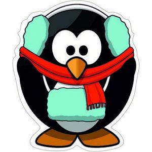 Зимний Пингвин холодно