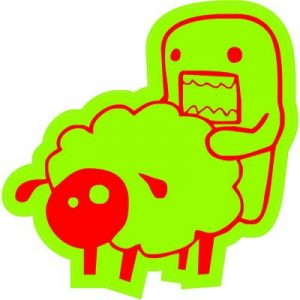 Домо Кун любит овец