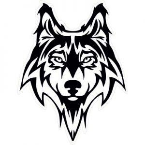черная тату волка