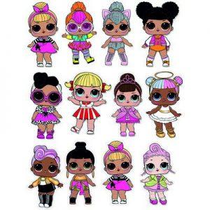набор куколки лол а4