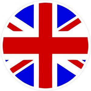 Лого Британии круглый флаг