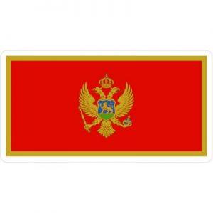 флаг черногории красный с орлом