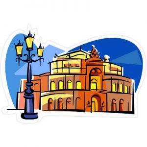 Германия Дрезден Опера