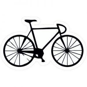 велосипед черно-белый