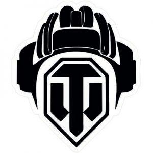 танчики игра логотип черно-белый
