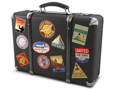 Виниловые наклейки и стикеры для чемодана