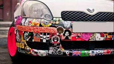 стикер бомбинг авто