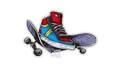 Виниловые стикеры для скейта